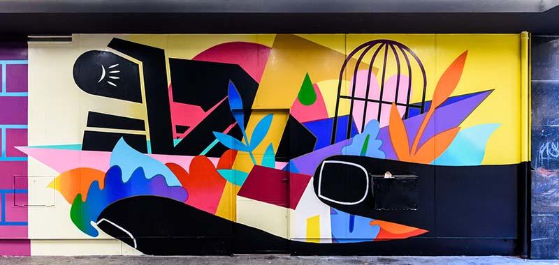 Madrid street art by Oscar Guerra