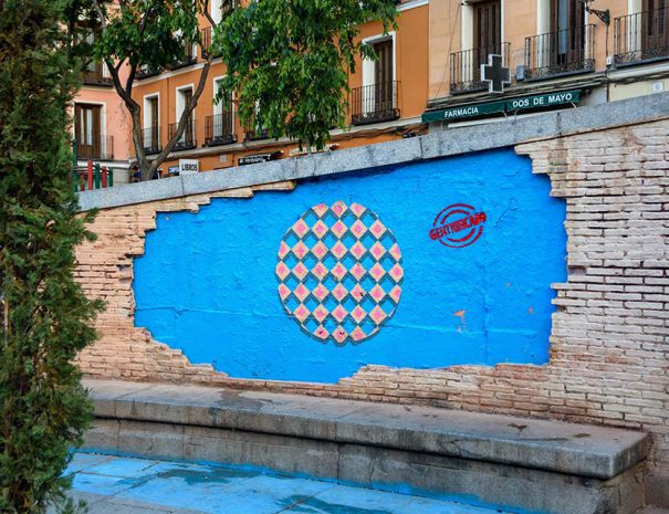 Street art tour in Malasaña for Pinta festival