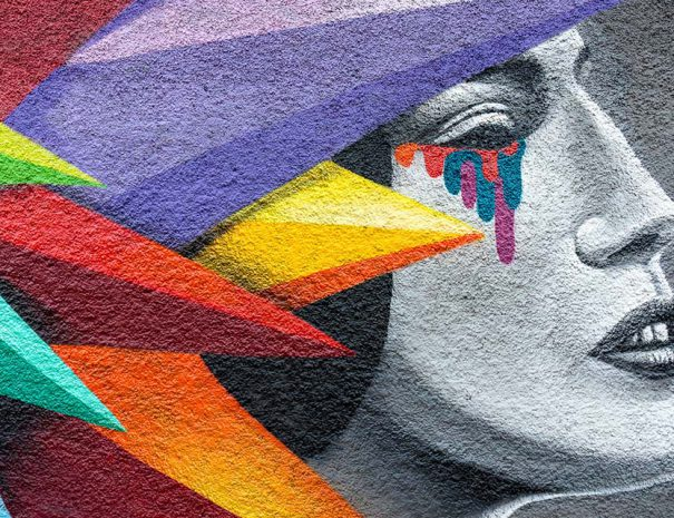 feminist tour madrid with Okudart