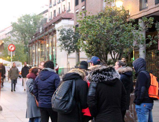madrid history tour around Mercado San Miguel