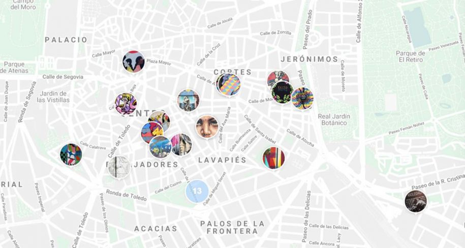 downtown madrid street art map