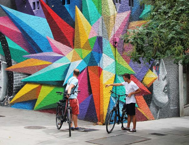 Listen to the stories of an underground culture during our street art bike tour madrid