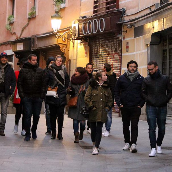 madrid history tour with a group of friends