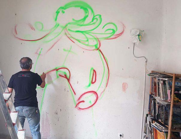 Street art activity madrid