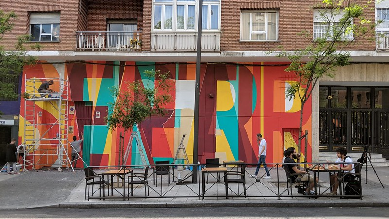 Calle lavapies, a festival for modern art in Madrid