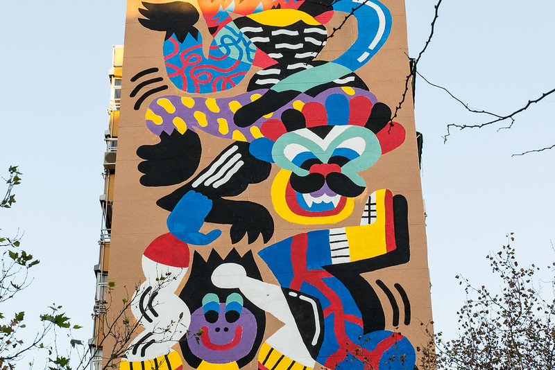 Big street art mural Madrid