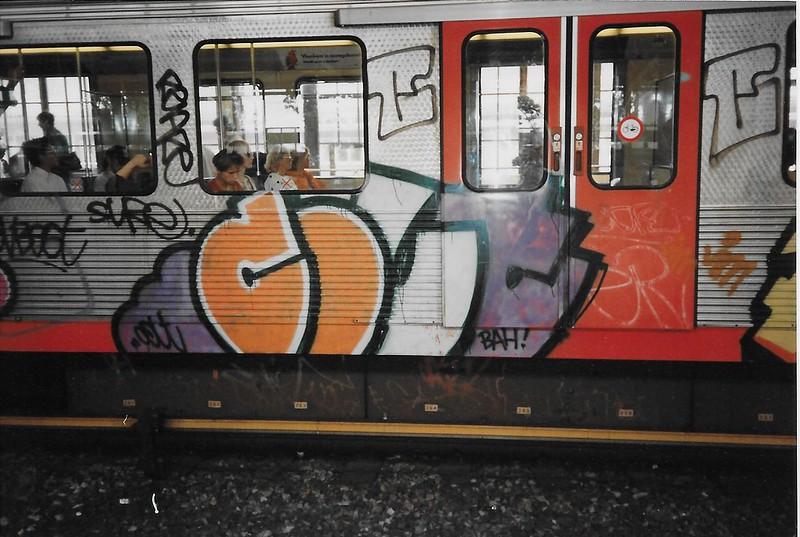 Train graffiti in Amsterdam