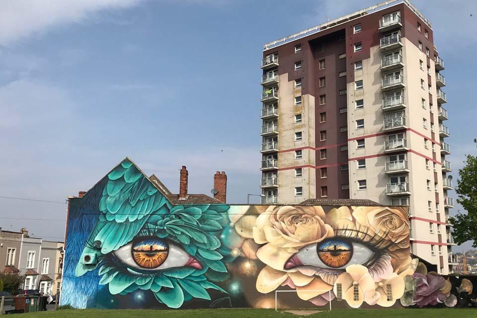Upfest street painting festival in the UK