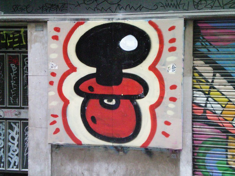Barcelona graffiti legend