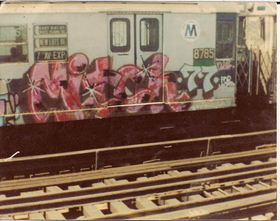 Old school street art graffiti