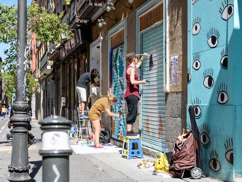 street art festival Pinta Malasaña Madrid