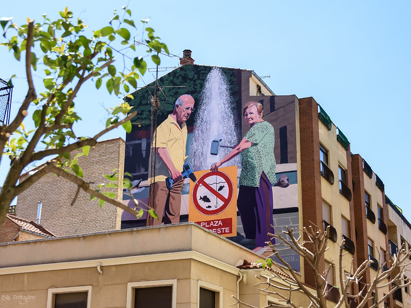 A whole neighborhood taken by street art Salamanca