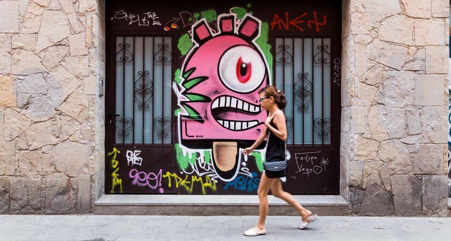 Konair street art Barcelona