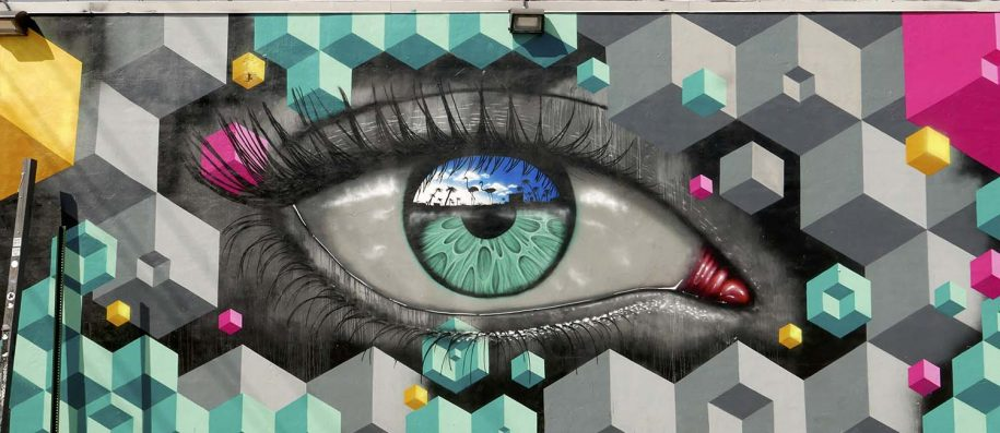 amazing street painting in Miami Wynwood walls