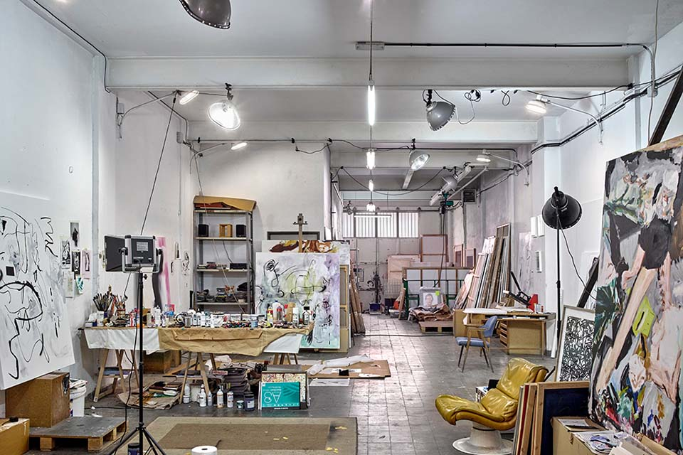 Local emergent artist studio