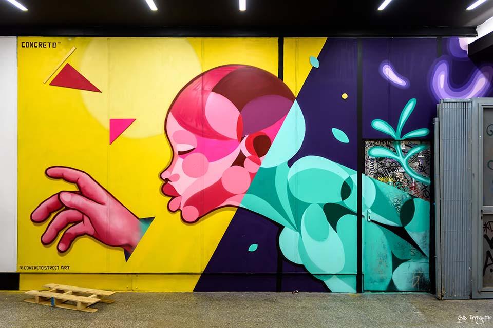 Concreto for Arte al cubo street art tour festival