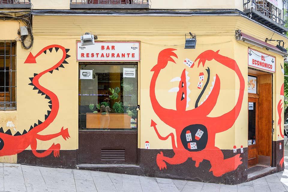 Street art tour first stop