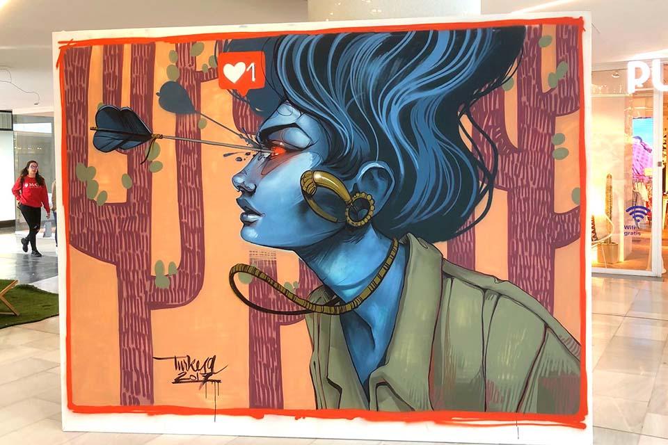 post-graffiti canvas
