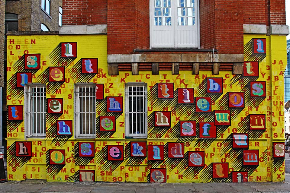 Modern street art by Ben Eine