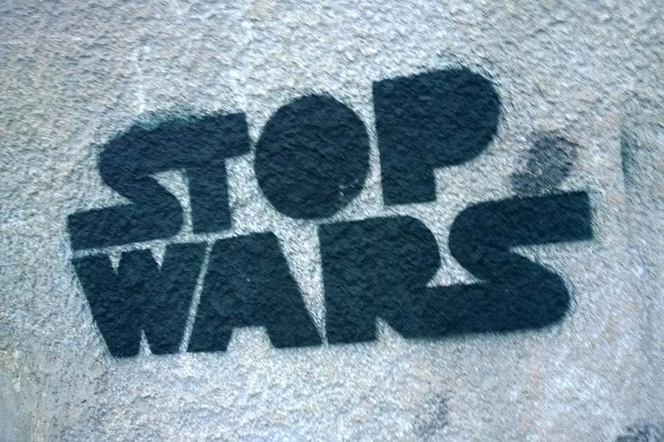 A 'stop wars' message