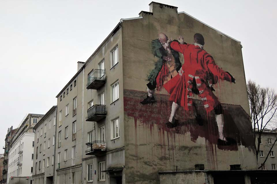 Street art painting in Poland