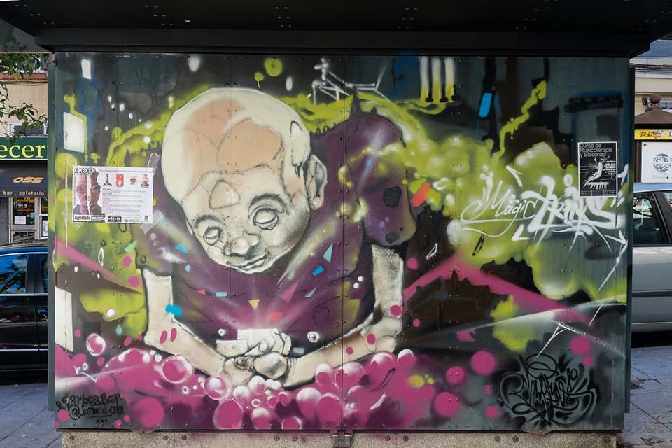 Gerbos street art Madrid