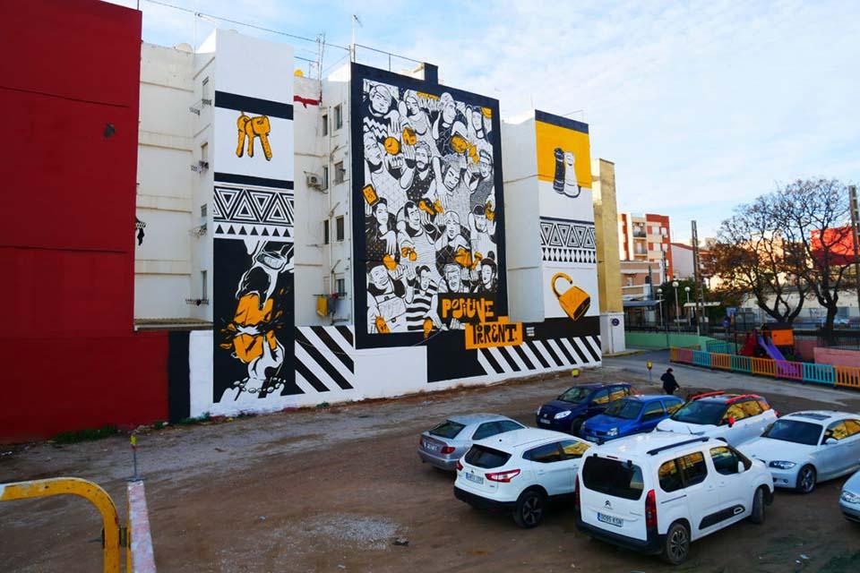 Graffiti wall in Valencia