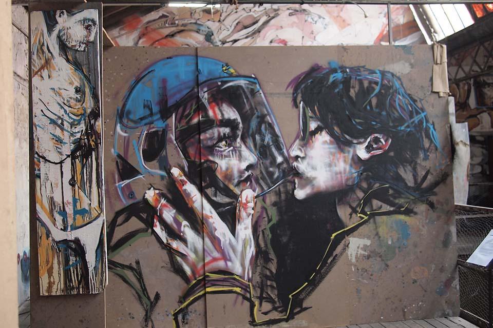 Street art walk at La Neomudejar