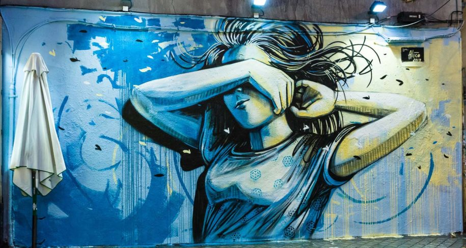 street art walk with Alice Pasquini