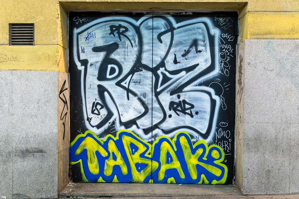 Different names & nicknames are used in graffiti and street art