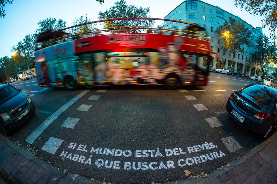 Street art poems in Madrid