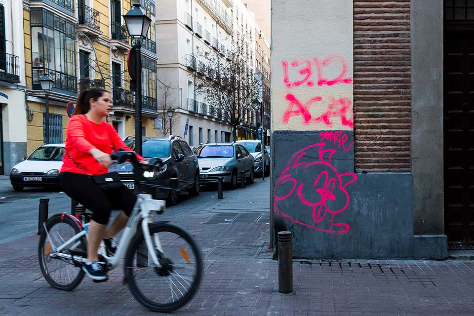 Guided visit around Lavapies by bike