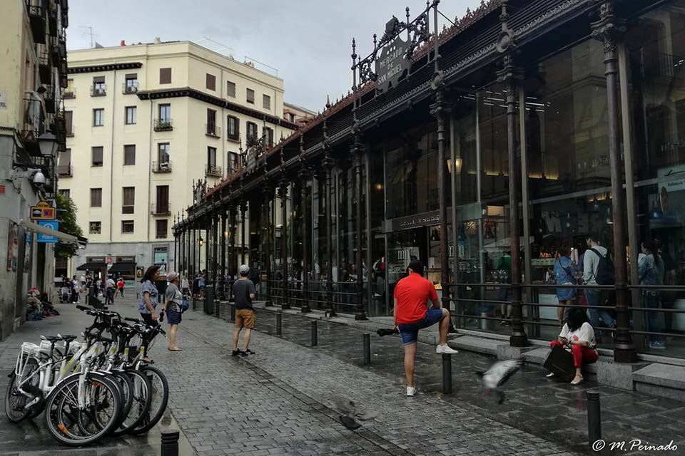Visiting Madrid's mercados by bike