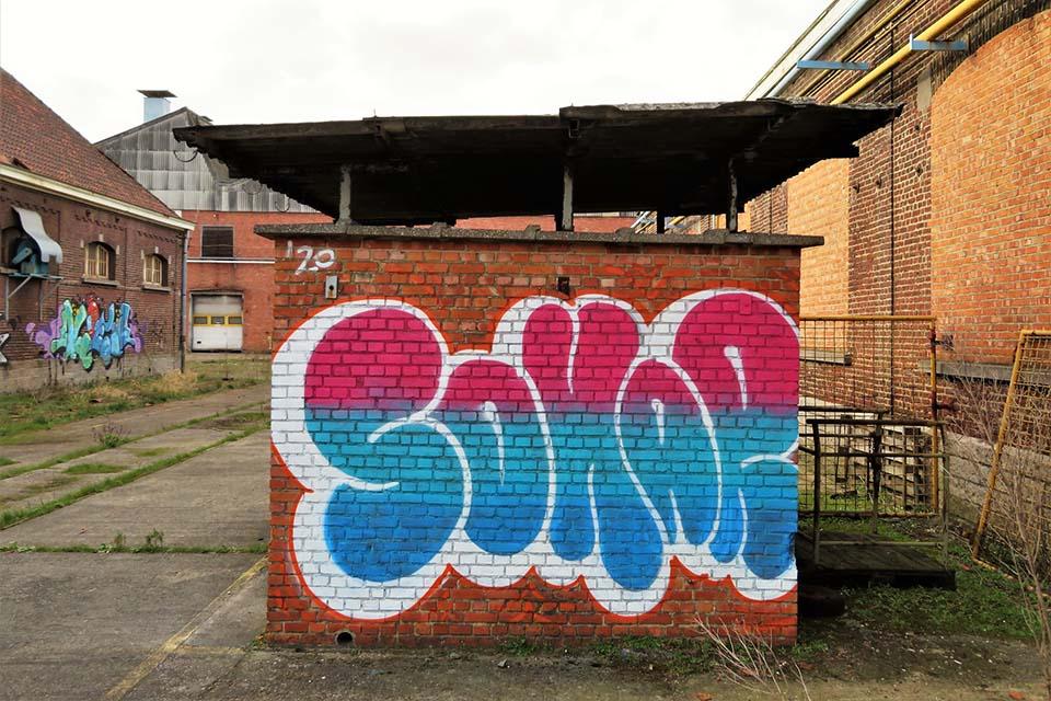 Grafiti art observed in a squat