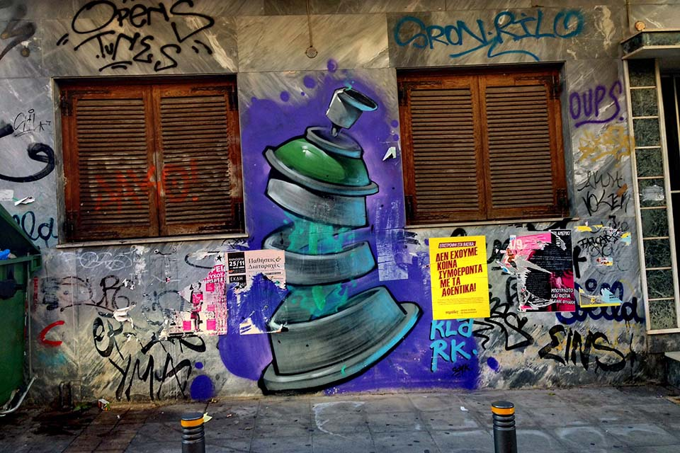 street art walking tour in Athens, Greece