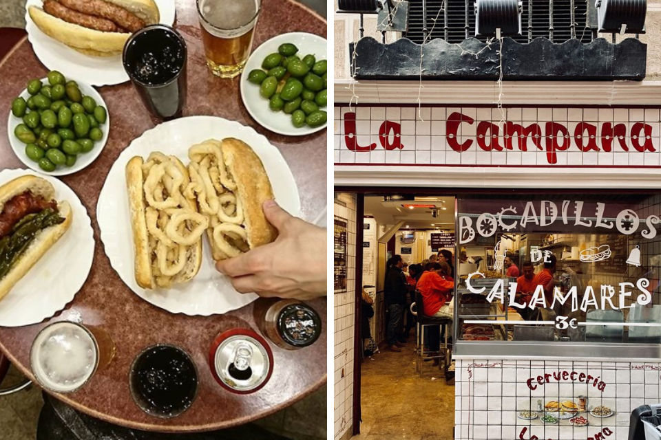 bocadillo de Calamares, madrid street food