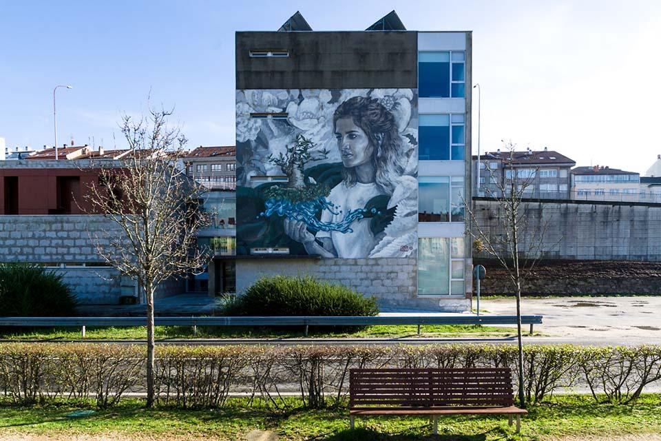 Street art artists in Santiago de Compostela