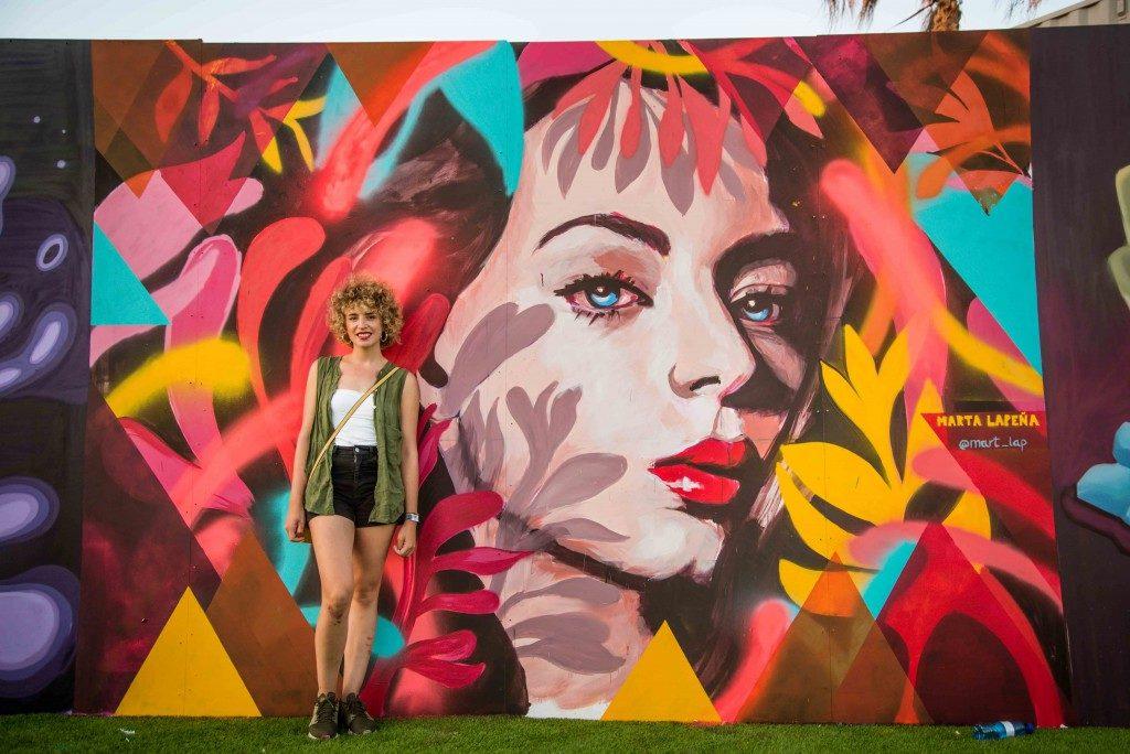 Marta Lapeña's mural artwork