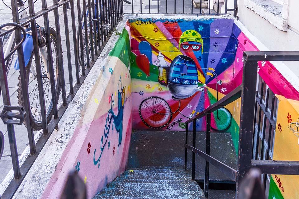 street art wall in Dublin