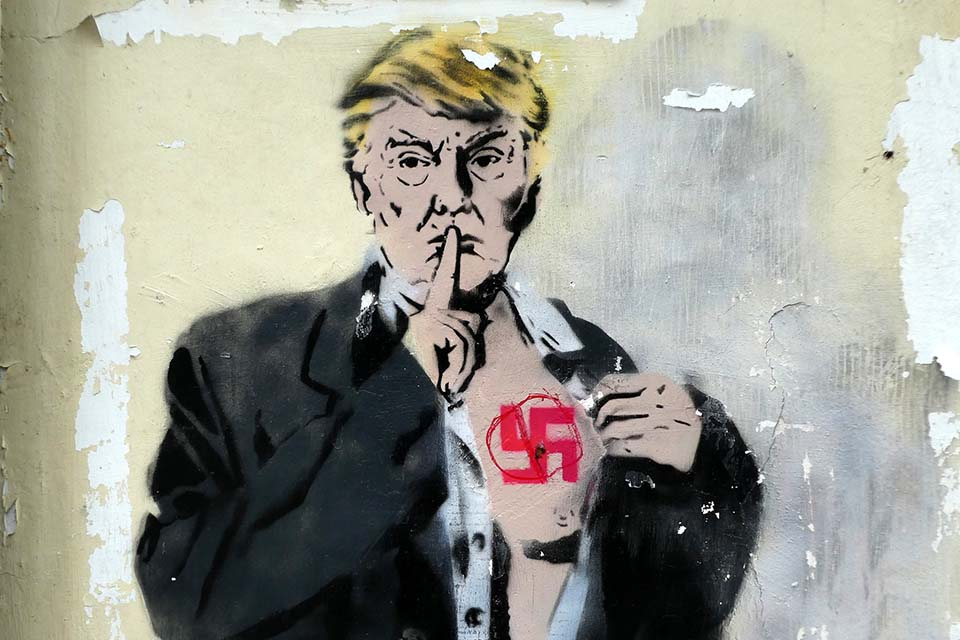 D. Trump street art