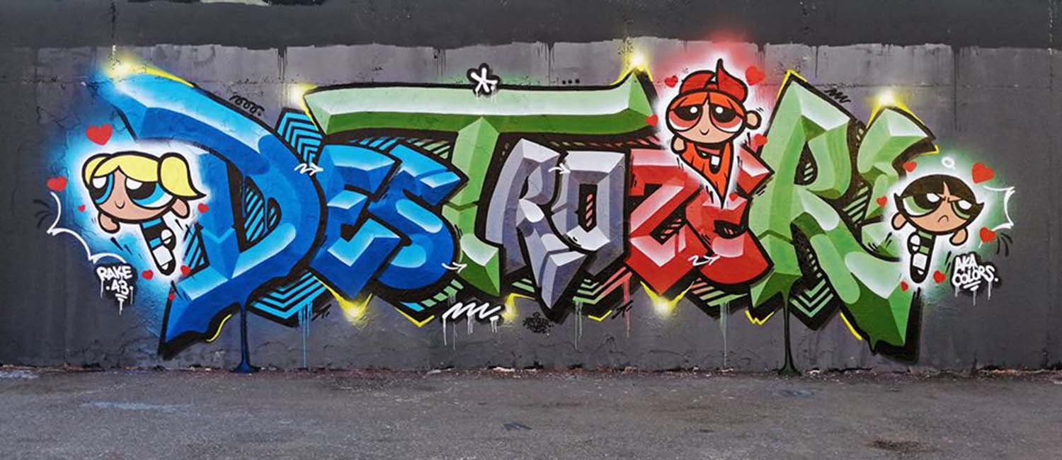 26 Graffiti Letters Typography That You Should Introduce In Your Blackbook
