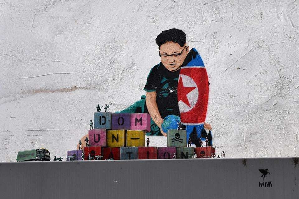 Jong-Un street art