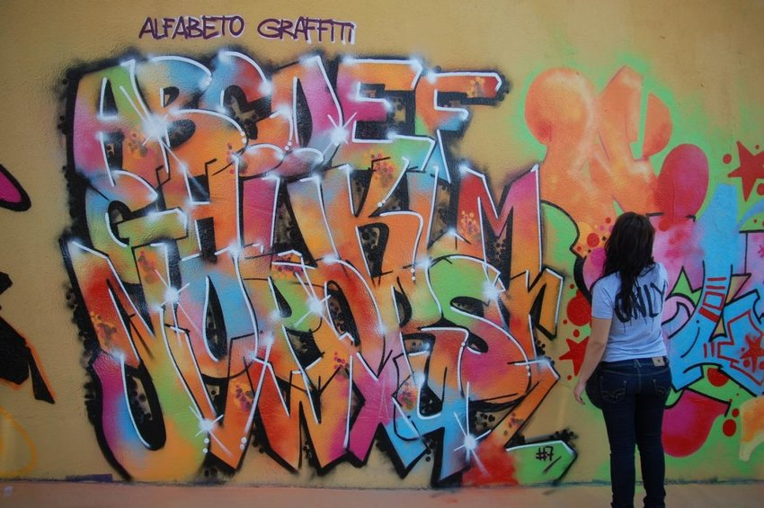 graffiti letters by Madrid based artist