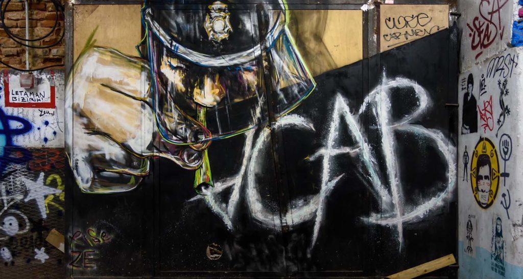 political street art and graffiti