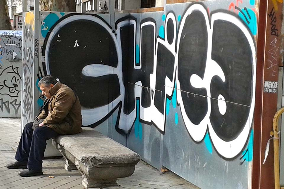 chica graffiti madrid