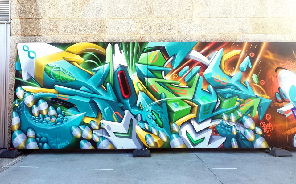 colorful graffiti letters