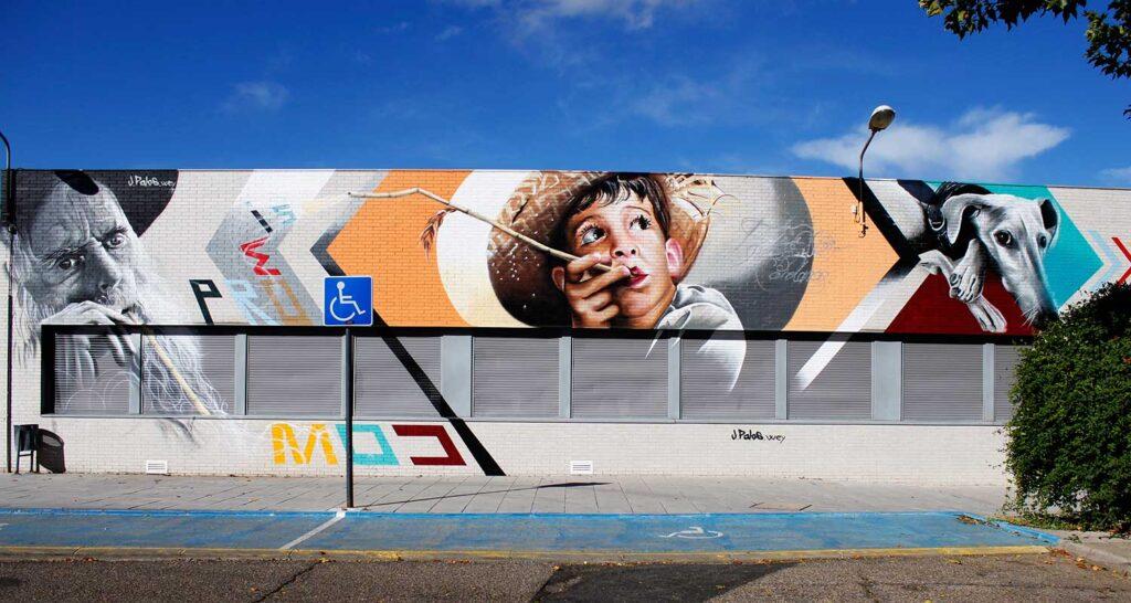 modern urban art created in Spain