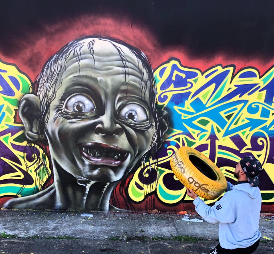 graffiti wall by Chino