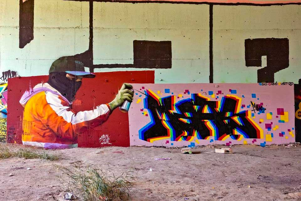 Modern urban art artist based in Madrid