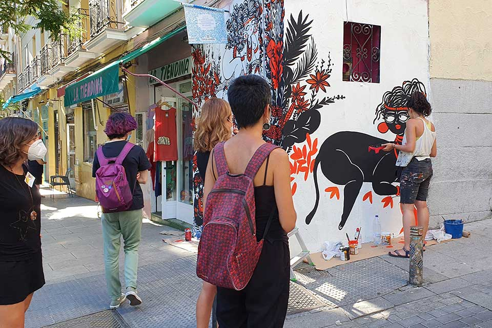artistic work in process at CALLE lavapies